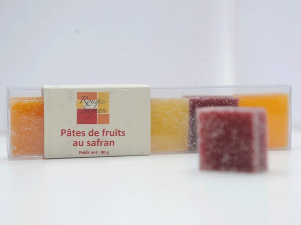 Pâte de fruits au safran – Rouges Safran